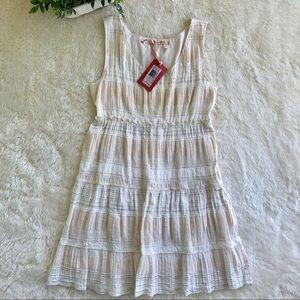 Chelsea & Violet cream/off-white ruffle dress 12